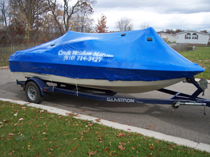 Shrink wrap your pontoon boat in southeast MI