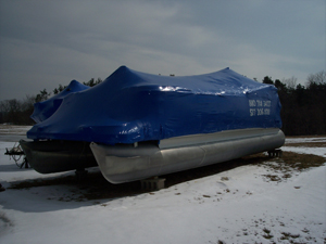 Winterize your pontoon boat in south east Michigan